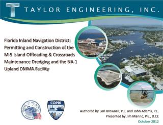 Florida Inland Navigation District:  Permitting and Construction of the