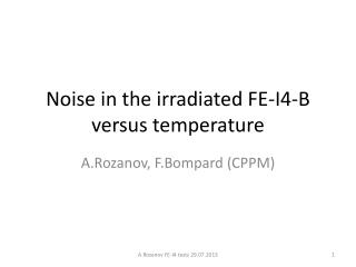 Noise in the irradiated FE-I4-B versus temperature