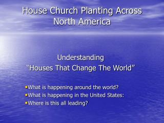 House Church Planting Across North America