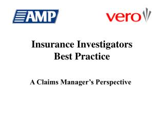 Insurance Investigators Best Practice