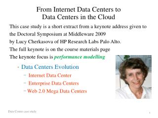 From Internet Data Centers to Data Centers in the Cloud