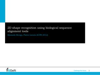 2D shape recognition using biological sequence alignment tools