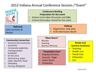 """2012 Indiana Annual Conference Session /""""Event"""""""