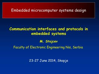 Embedded microcomputer systems design