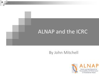 ALNAP and the ICRC