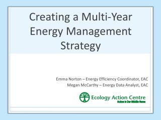 Creating a Multi-Year Energy Management Strategy