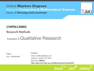 CMPDLLM002 Research Methods