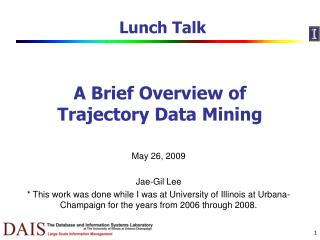 A Brief Overview of Trajectory Data Mining