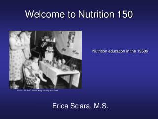 Welcome to Nutrition 150