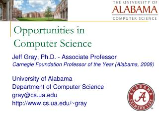 Opportunities in  Computer Science