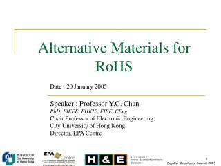 Alternative Materials for RoHS