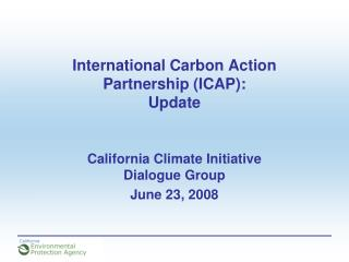 International Carbon Action Partnership (ICAP): Update