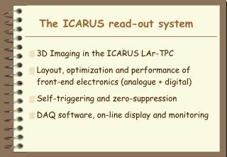 The ICARUS read-out system