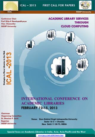 ICAL – 2013        FIRST CALL FOR PAPERS