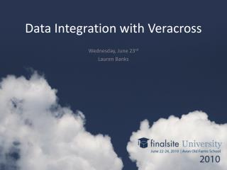 Data Integration with Veracross