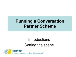 Running a Conversation Partner Scheme
