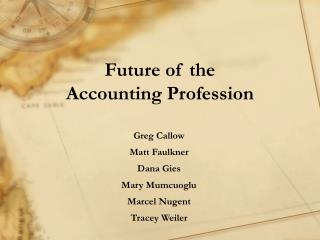 Future of the Accounting Profession