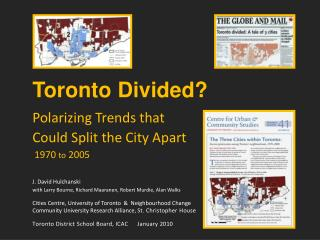Toronto Divided?