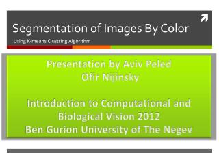 Segmentation of Images By Color