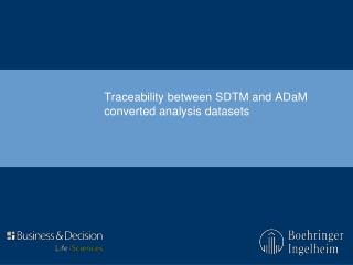 Traceability between SDTM and ADaM converted analysis datasets