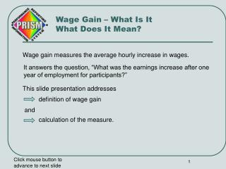 Wage Gain – What Is It  What Does It Mean?