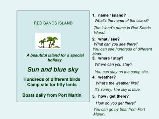 RED SANDS ISLAND