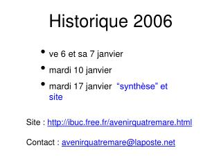 Historique 2006