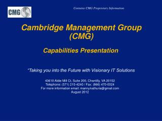 Cambridge Management Group (CMG)