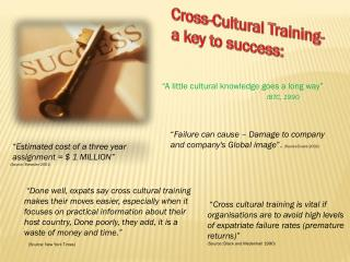 Cross-Cultural Training-   a key to success: