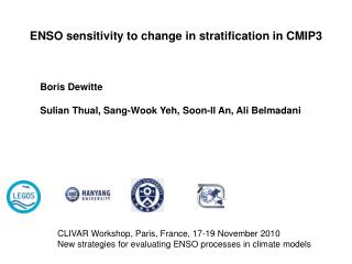 ENSO sensitivity to change in stratification in CMIP3