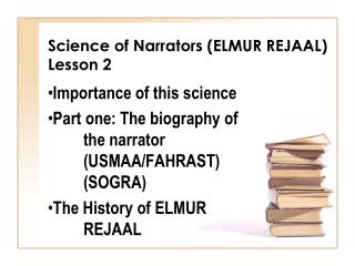Science of Narrators (ELMUR REJAAL) Lesson 2