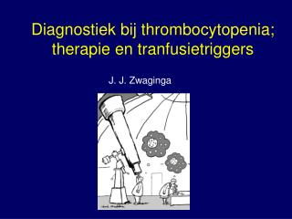 Diagnostiek bij thrombocytopenia; therapie en tranfusietriggers