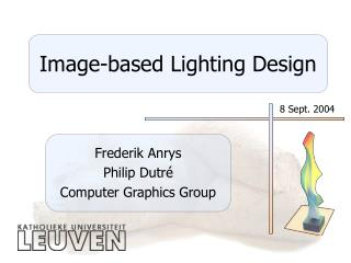 Image-based Lighting Design