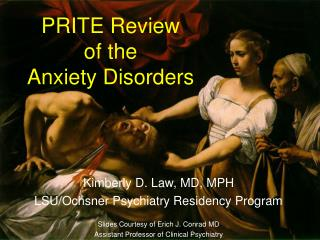 PRITE Review  of the  Anxiety Disorders