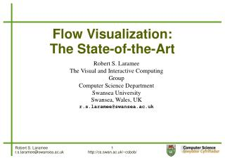 Flow Visualization:  The State-of-the-Art