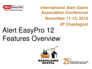 Alert EasyPro 12 Features Overview
