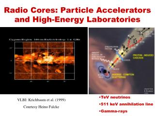 Radio Cores: Particle Accelerators and High-Energy Laboratories