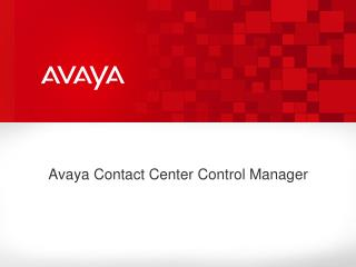 Avaya Contact Center Control Manager