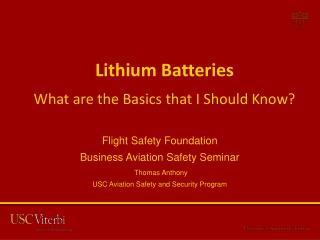 Lithium Batteries  What are the Basics that I Should Know?
