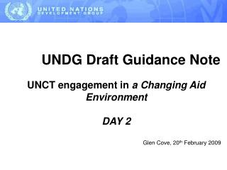UNDG Draft Guidance Note