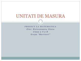 UNITATI DE MASURA