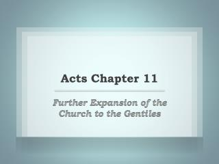 Acts Chapter 11