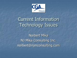 Current Information Technology Issues