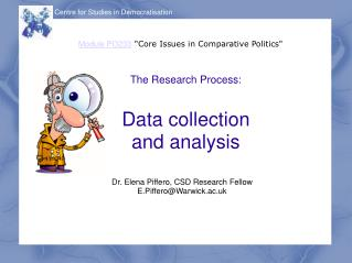 The Research Process: Data collection and analysis