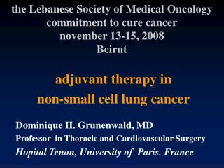 adjuvant therapy in  non-small cell lung cancer