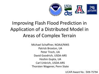 Improving Flash Flood Prediction in Application of a Distributed Model in Areas of Complex Terrain