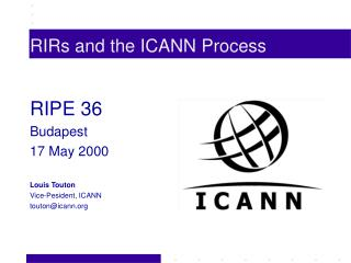 RIRs and the ICANN Process