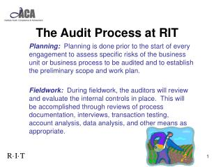 The Audit Process at RIT