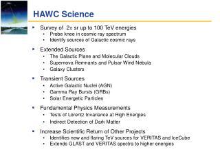 HAWC Science