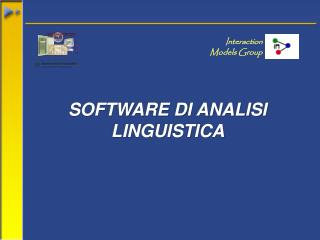 SOFTWARE DI ANALISI LINGUISTICA